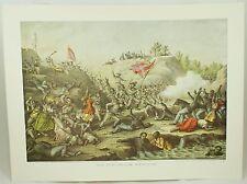 The Fort Pillow Massacre Vintage Civil War Kurz & Allison Lithograph Folio Print