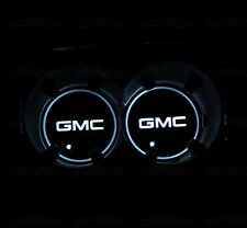 (2) Colorful LED Car Cup Holder Pads Mats Fit For GMC Interior Atmosphere Lights