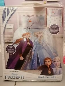 Disney Frozen 2 Elsa and Anna Single Duvet Cover Set
