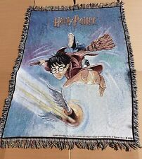 Harry Potter & the Golden Snitch TAPESTRY THROW BLANKET 100% Cotton WARNER BROS
