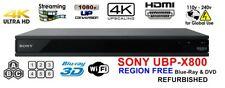 SONY UBP-X800 Refurbished Region Free UHD Ultra HD 4K Player ZONE A B C Blu-ray