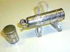 VINTAGE POCKET WICK LIGHTER WITH 935 SILVER CASE - NICE ENGRAVINGS - FEUERZEUG