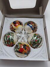 1984 NIB VTG RARE Mickey Mouse Moranduzzo Disney Christmas Ornament Satin Italy