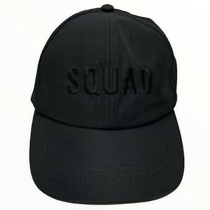 Seed Sport SQUAD Black Cap Adjustable Womens One Size Excellent Condition RARE