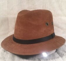 "NWT Wind River By Bailey ""KENYON"" 25549 Men's Hat Fedora Leather Small Brown"