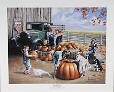 """""""Fall Harvest"""" by Newell Boatman Offset Lithograph on Paper CoA 2010 LE of 3000"""