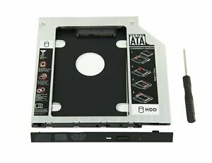 """9.5mm HDD CD/DVD ROM Caddy Tray SATA 2.5"""" Hard Drive Disk Adapter For Laptop"""