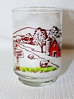 Hickory Farms Red Barn Farm Scene  Drinking Glass