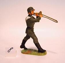 Elastolin 10150 Wehrmacht 7cm Soldat im Marsch mit Posaune #08