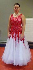 Red and white ballroom dance dress