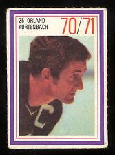 1970-71 ESSO POWER PLAYERS NHL #25 ORLAND KURTENBACH EX+ VANCOUVER CANUCKS STAMP
