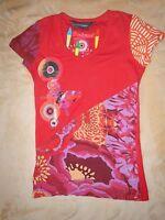 Desigual Shirt mit Print S mehrfarbig Oberteil Kurzarm