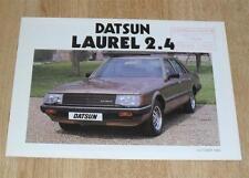 DATSUN Laurel 2.4 AUTO BROCHURE DI VENDITA 1982
