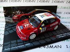 RIT6 1/43 ixo altaya Rallye : citroën xsara Set Car 1999 Bugalski chiaroni