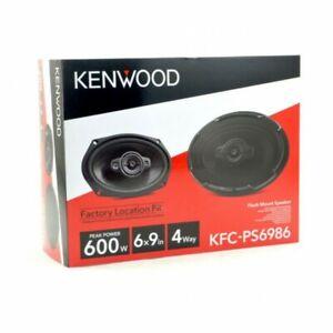 "KENWOOD KFC-PS6986 6x9"" 600W 4-WAY MOTORCYCLE CAR AUDIO COAXIAL SPEAKERS NEW"