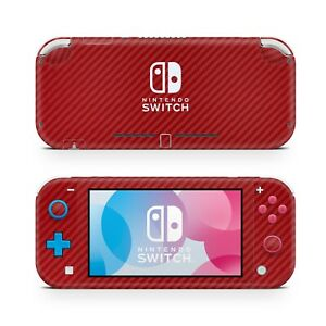 For Nintendo Switch Lite Red Carbon Vinyl Skin Wrap Case Cover Sticker Protector
