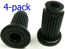 """Oajen caster socket for 7/16"""" diameter grip ring stem, 4 pack, 1"""" OD round 16 g"""