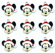 10Pcs Christmas Mickey Jewelry Making Accessories Metal Charm pendants QQ51