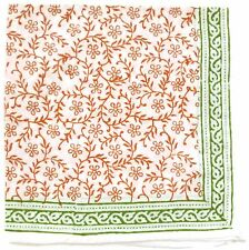 Block Printed Napkins~Orange w/Green Borders-Tiger Reserve-Fair Trade