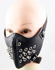Fashion Stylish Black Men Gothic Steampunk Motorcycle Face Mask Cool Punk Rivets