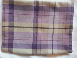 Tartan Cushion Cover New Purple Britannia Rose Cairngorm Thistle