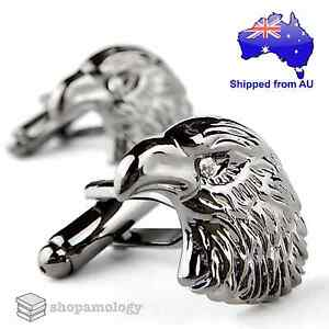 Gun Metal Eagle Head Cufflinks