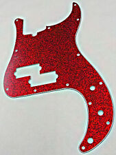 D'ANDREA PRO P BASS PICKGUARD 13 HOLE RED SPARKLE MADE IN THE USA