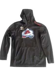 Grubauer Team Issued Colorado Avalanche Player Fanatics Hoodie 19 -20