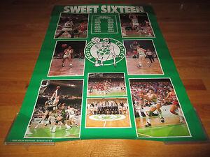 1986 SWEET SIXTEEN Boston Celtics Poster LARRY BIRD KEVIN McHALE ROBERT PARISH