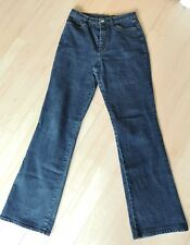 Ladies M&S Denim Jeans Size 12 LONG TALL BOOTCUT mid Blue