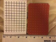 Sello de fondo de Red Red Rubber Stamp NUEVO. en se aferran Espuma