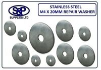 4MM X 20MM STAINLESS STEEL REPAIR WASHER PENNY WASHERS ST/STEEL A2 ST/STEEL
