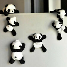 Cute Plush Panda Removable Fridge Magnet Refrigerator Sticker Home Decoration
