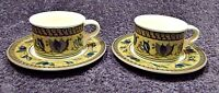 Mikasa Intaglio Arabella Coffee Cup Mug Saucer Sets CAC01 2 Excellent