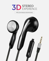 3.5mm In-Ear Stereo Earphone Earbud Mic Headset Headphone For Mobile Phone