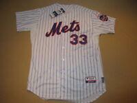 MATT HARVEY NEW YORK METS MAJESTIC 2015 MLB AUTHENTICATED AUTOGRAPHED JERSEY 48
