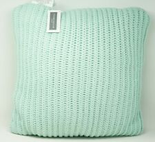 """Charter Club Damask Designs 20"""" Square Sweater-Knit Decorative Pillow Mint Green"""