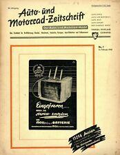 Der Auto-Markt 1950 7/50 Auto- und Motorrad-Zeitschrift Talbot 4.5 FN 450 ccm
