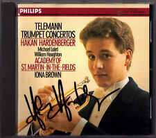 Hakan HARDENBERGER Signiert TELEMANN 5 Trumpet Concerto IONA BROWN CD Trompete