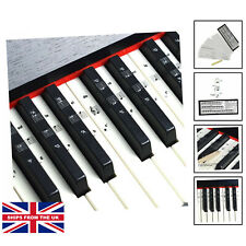 More details for keyboard or piano stickers for 49/61/76/88 key keyboards, piano and keyboard ...