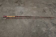 "Vintage Fiberglass 7' 3"" Two Piece Fly Fishing Pole Rod"