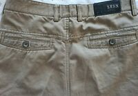 LE&X Stefano Ricczi Khaki brown jeans Waist 32 Leg 27.5 Cotton 100%