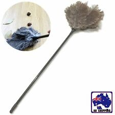 2x Ostrich Feather 60cm Duster Grey Cleaning House Plastic Handle HSCC31509x2
