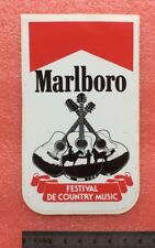 Autocollant MARLBORO Cigarette FESTIVAL COUNTRY MUSIC Vintage Sticker ans 70/80