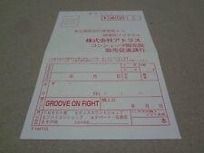 Groove On Fight Saturn Sega Japan Registration Card / Hagaki