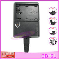 CB-5L CG-580 BP-511A BP-512A BP-514 Battery Charger For Canon EOS 30D 50D G1 G2