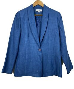 Katies Vintage Blazer Jacket Blue Button-Up Business Corporate Office Size S/10