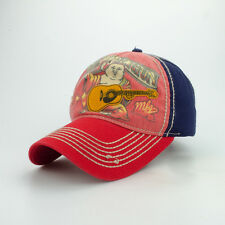 True Religion Front Big Buddha Painting Color Block Cap Hat $85 Red/Navy