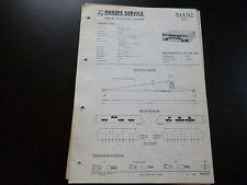 Original Service Manual Car Radio Philips n4x14t Sport