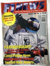 F1 NEWS FORMULA ONE MAGAZINE 1998 No.13 August 8  Formel 1